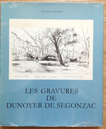 [ART - DUNOYER DE SEGONZAC] 1 ouvrage, dédicacé et signé à l'imprimeur du livre....