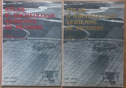 [ARCHÉOLOGIE - ARCHÉOLOGIE AÉRIENNE] 2 grands ouvrages, in plano. *Atlas d'Archéologie...