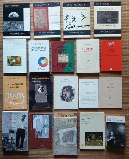 [ART - ÉCRITS SUR L'ART] 20 ouvrages. *Jean Tardieu. Obscurité du Jour. Albert Skira,...