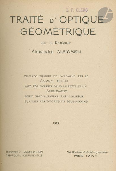 Dr. GLEICHEN, ALEXANDRE Traité d'Optique...