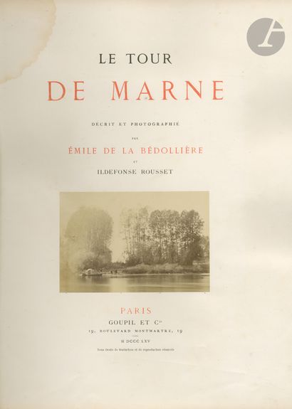 BÉDOLLIÈRE, ÉMILE de la (1812-1883) ROUSSET,...