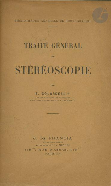 COLARDEAU, E Traité général de stéréoscopie....