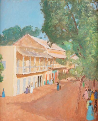 Georges André KLEIN (1901-1992) Rue à Bamako,...