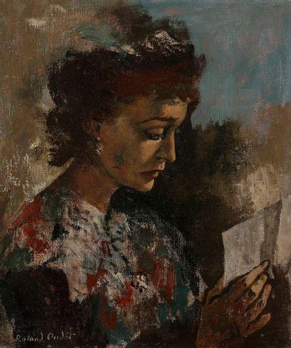 Roland OUDOT (1897-1981) La Lecture Huile...