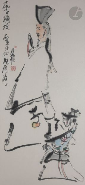 Zhang GUIMING (1939-2014) Fête nocturne,...