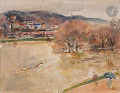André PLANSON (1898-1981) Village en bord...