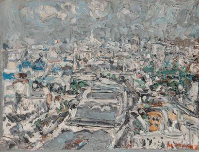 André COTTAVOZ (1922-2012) Vue de Paris Huile...
