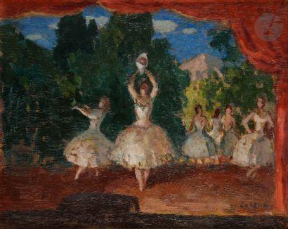 Marcel COSSON (1878-1956) Danseuses en scène...