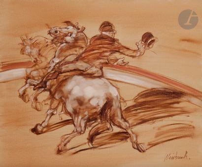 Claude WEISBUCH (1927-2014) Spectacle équestre...