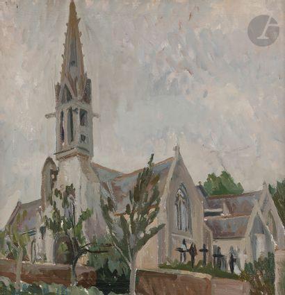 Christian CAILLARD (1899-1985) L'Église,...