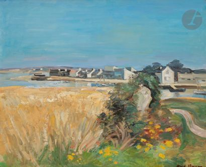 André PLANSON (1898-1981) Les Blés à Saint-Colomban...