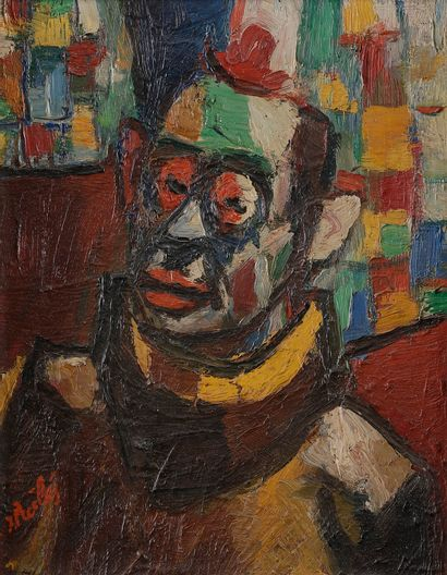 Isaac PAILES (1895-1978) Clown Huile sur...