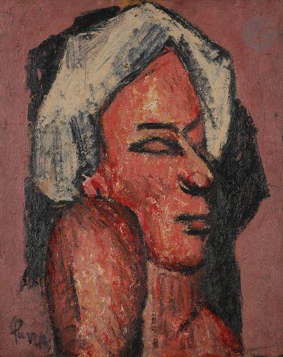 Ginés PARRA (1896-1960)  Buste d'homme...