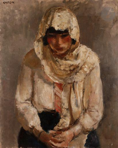 Georges CAPON (1890-1980) Femme au voile...