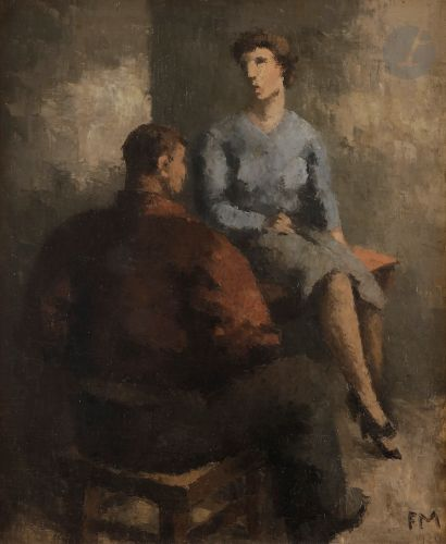 Frans MASEREEL (1889-1972) Matelot et femme...