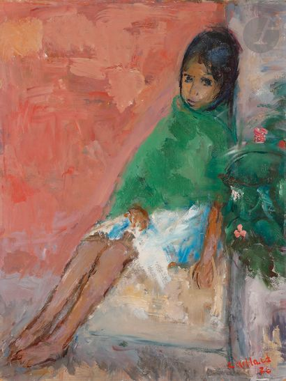 Christian CAILLARD (1899-1985) Adelaida assise,...