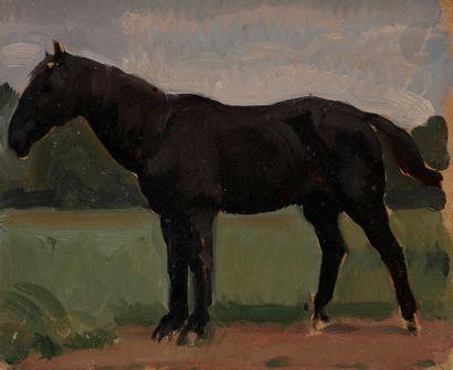 Eugène Robert POUGHÉON (1886-1955) Cheval...