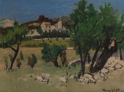 Robert HUMBLOT (1907-1962) Paysage de Provence,...