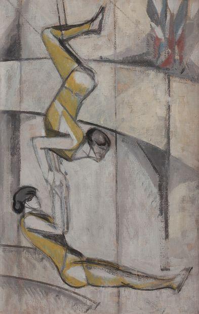 Jean-Émile LABOUREUR (1877-1943) Les Acrobates,...
