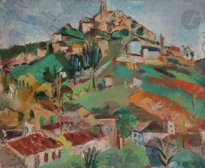 François DESNOYER (1894-1972) Village d'Eus,...