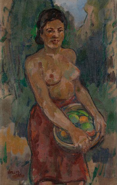 Macario VITALIS (1898-1989) Femme philippine...
