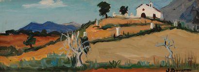 Jacques BOUYSSOU (1926-1997) Colline à Malaga,...