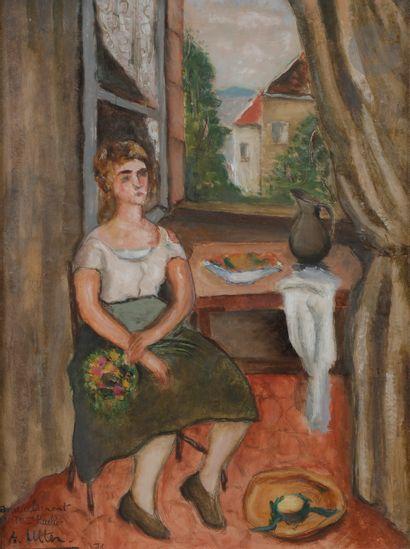André UTTER (1886-1948) Portrait de Suzanne...