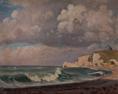 René Liénard DE SAINT-DELIS (1873-1958) Étretat,...