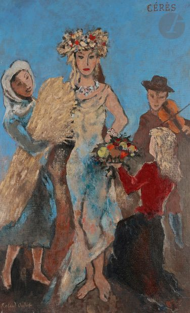 Roland OUDOT (1897-1981) Cérès Huile sur...