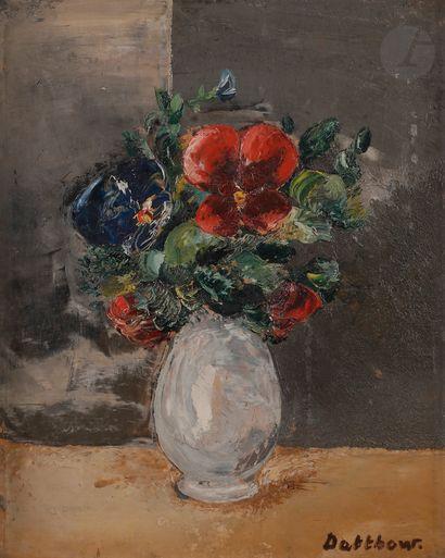 Éric DETTHOW (1888-1952) Vase de fleurs Huile...