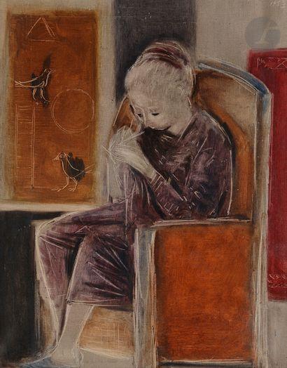 Roberta GONZALEZ (1909-1976) Femme à la couture,...