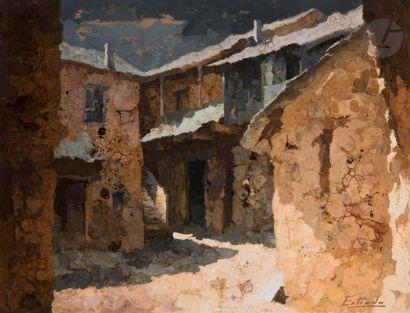Angel ESTRADA (né en 1933) Villa del Monte...