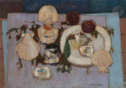 Claude SCHURR (1921-2014) Coquilles Saint-Jacques...