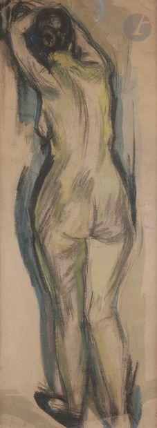 Christian CAILLARD (1899-1985) Nu à sa toilette...