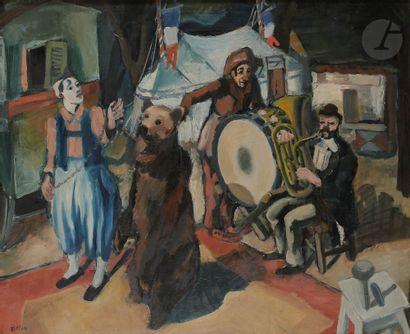 Arthur FILLON (1900-1974) Le Montreur d'ours,...