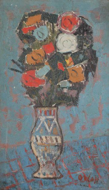 Alexander ORLOFF (1899-1979) Vase de fleurs...