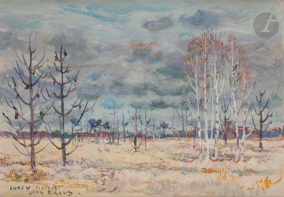Jean RIGAUD (1912-1999) Les Pins brûlés,...