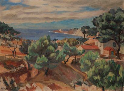 Jean ZAWADO (1891-1982) Paysage méditerranéen...