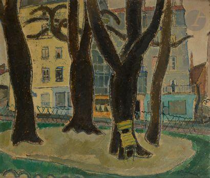 Francis MONTANIER (1895-1974) La Place, 1945...