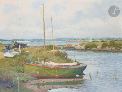 Luc DIDIER (né en 1954) Barques à Kercabelec...