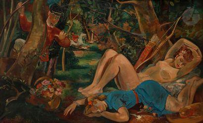 André PLANSON (1898-1981) Le Sommeil de Diane,...