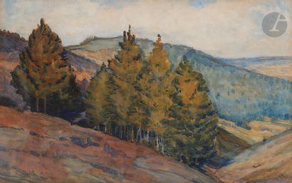 Roland OUDOT (1897-1981) Paysage de montagne,...