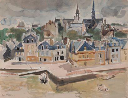 André PLANSON (1898-1981) Vue de Dinan, 1955...