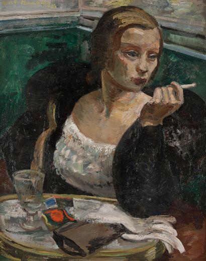 André PLANSON (1898-1981) Femme au café,...