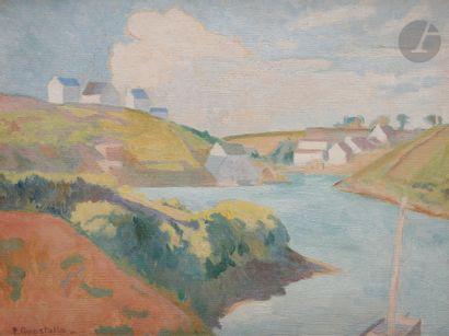 Pierre GUASTALLA (1891-1968) Le Port de Doëlan...