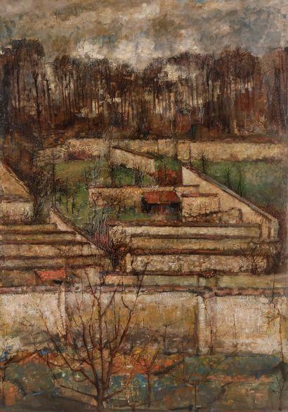 Paul REBEYROLLE (1926-2005) Paysage, vers...