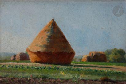 Eugène Robert POUGHÉON (1886-1955) Les Meules...