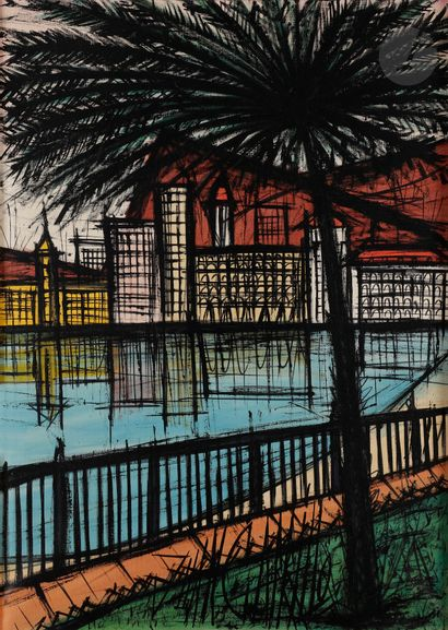 Juan CARRILLO (né en 1937) Paysage méditerranéen,...