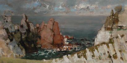 Michel RODDE (1913-2009) Bord de mer en Bretagne...