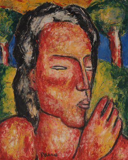 Ginés PARRA (1896-1960) Buste de femme,...